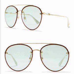 Gucci Glitter Aviator Sunglasses!